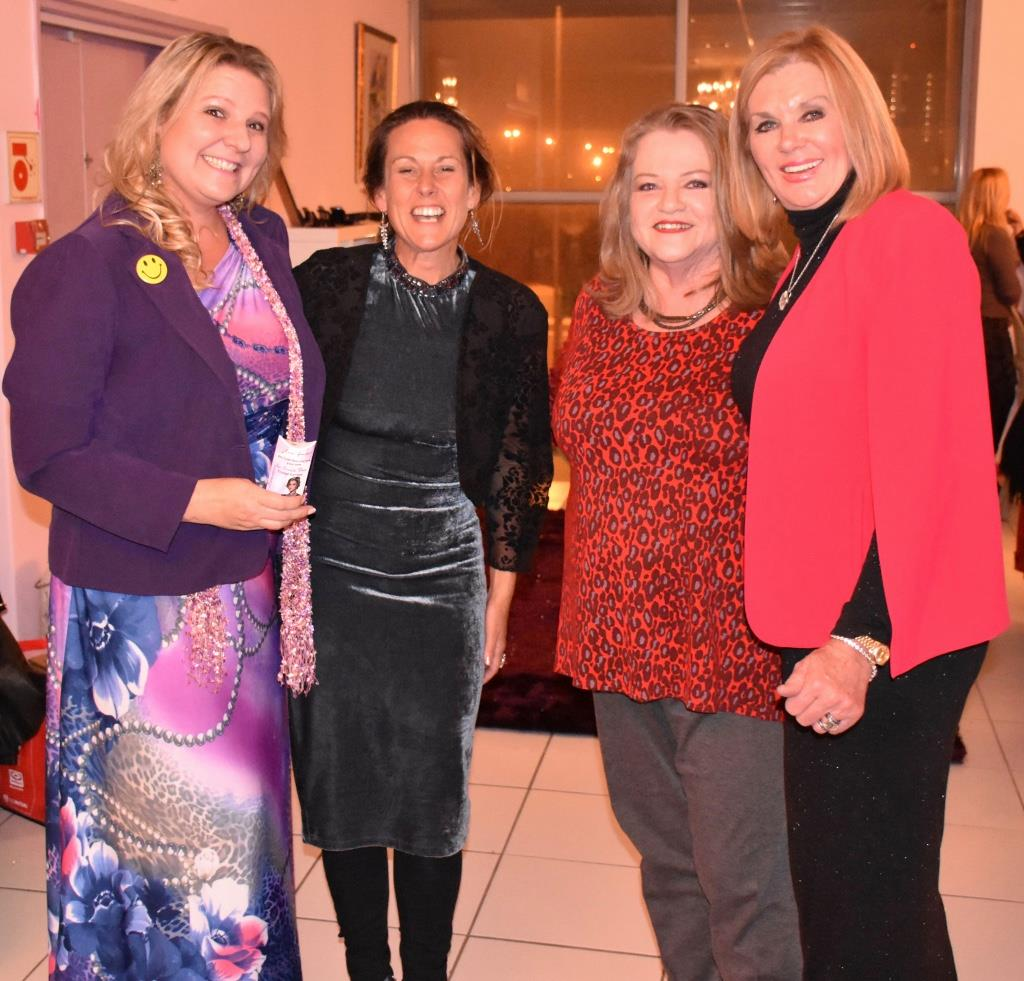 Women of Worth dinner August 2017 with Bronwyn Kilroe, Sharon Sinclair and Margaret Hirsch